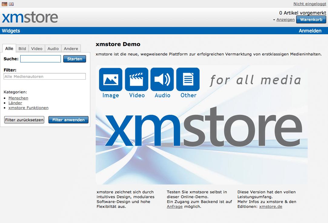 Bildagentur Software xmstore