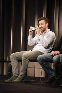 Florian Meissner fotografiert das Publikum