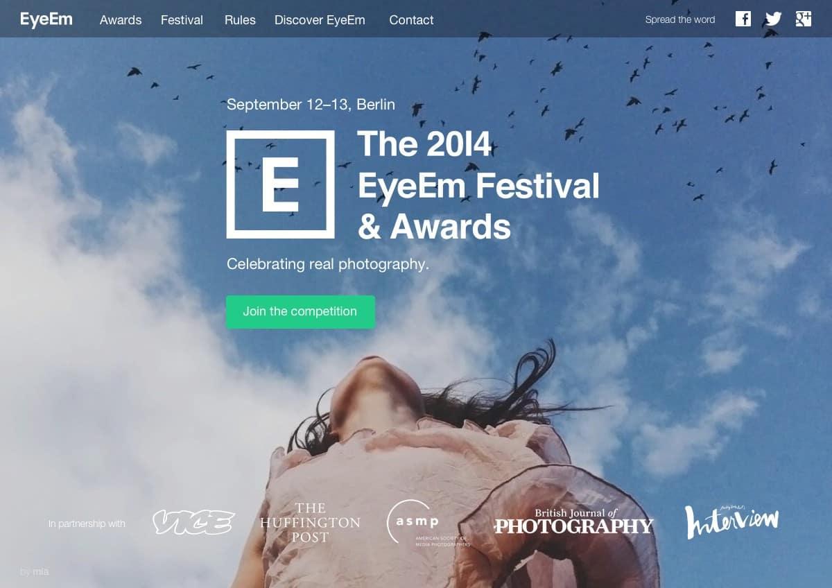 EyeEm Awards Webseite