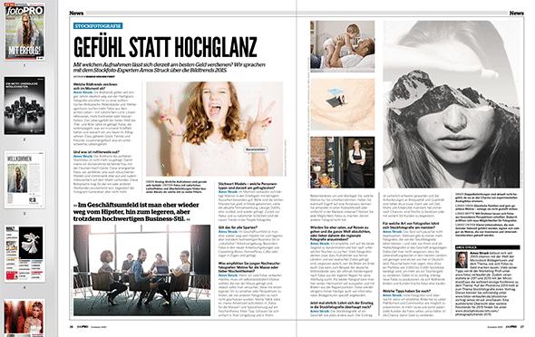 Interview in fotoPRO Lesen (PDF)