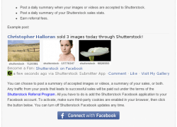Shutterstock mit neuem Facebook App