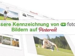 Bessere Kennzeichnung von Fotolia Bildern auf Pinterest