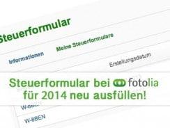 Das Steuerformular bei Fotolia für 2014 neu ausfüllen
